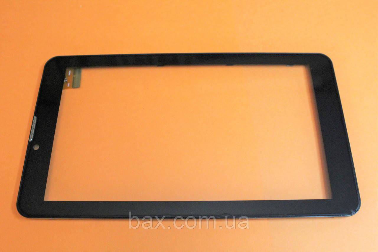 Тачскрін (сенсорний екран) для планшету чорний з рамкою Bravis NB74 YLD-CEG7253-FPC-A0 тип 2