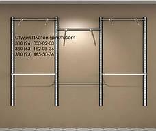 Торговое оборудование Система в коробе из МДФ: три пролета, фото 2