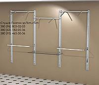Торговое оборудование Система в коробе из МДФ: три пролета