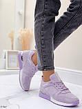 Стильные кроссовки женские фиолетовые эко-замш весна / осень, фото 7