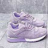Стильные кроссовки женские фиолетовые эко-замш весна / осень, фото 9