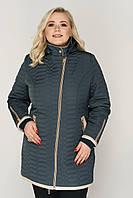 Демисезонная куртка «Дора» из материала Memory City больших размеров 66, 68, 70, 72