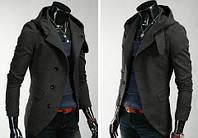 Приталенное кашемировое пальто с капюшоном