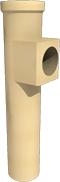 Керамический тройник SPS 90 TRK Ø80 / 80