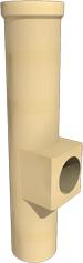 Керамический тройник ревизионный конденсационный 90 ° с выходом 100 SPS WYK Ø120