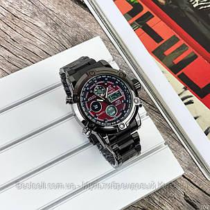 Оригінальні наручні чоловічі годинники AMST 3022 Metall Black-Red, фото 2