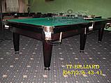 Бильярдный стол для пула КЛАССИК 11 футов ЛДСП 3.2 м х 1.6 м из натурального дерева, фото 3