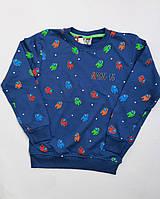Реглан для мальчиков амонг ас Among us свитшот,кофта, батник цвет джинс 8-12 летрост 128-152см двухнитка
