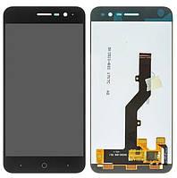 Дисплей для Zte Blade A520 с сенсорным стеклом (Черный) Оригинал Китай