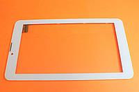 Тачскрин(сенсорный экран) для планшета белый с рамкой Bravis NB74 YLD-CEG7253-FPC-A0 тип 1, фото 1