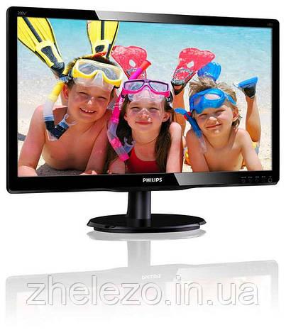 """Монитор Philips 19.53"""" 200V4QSBR/00 MVA Black; 1920 x 1080, 250 кд/м2, 8мс, VGA, DVI-D, фото 2"""