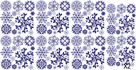 Слайдер дизайн для нігтів Сніжинки