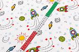 """Лоскут фланели детская """"Ракеты"""", размер 22*240 см, фото 4"""