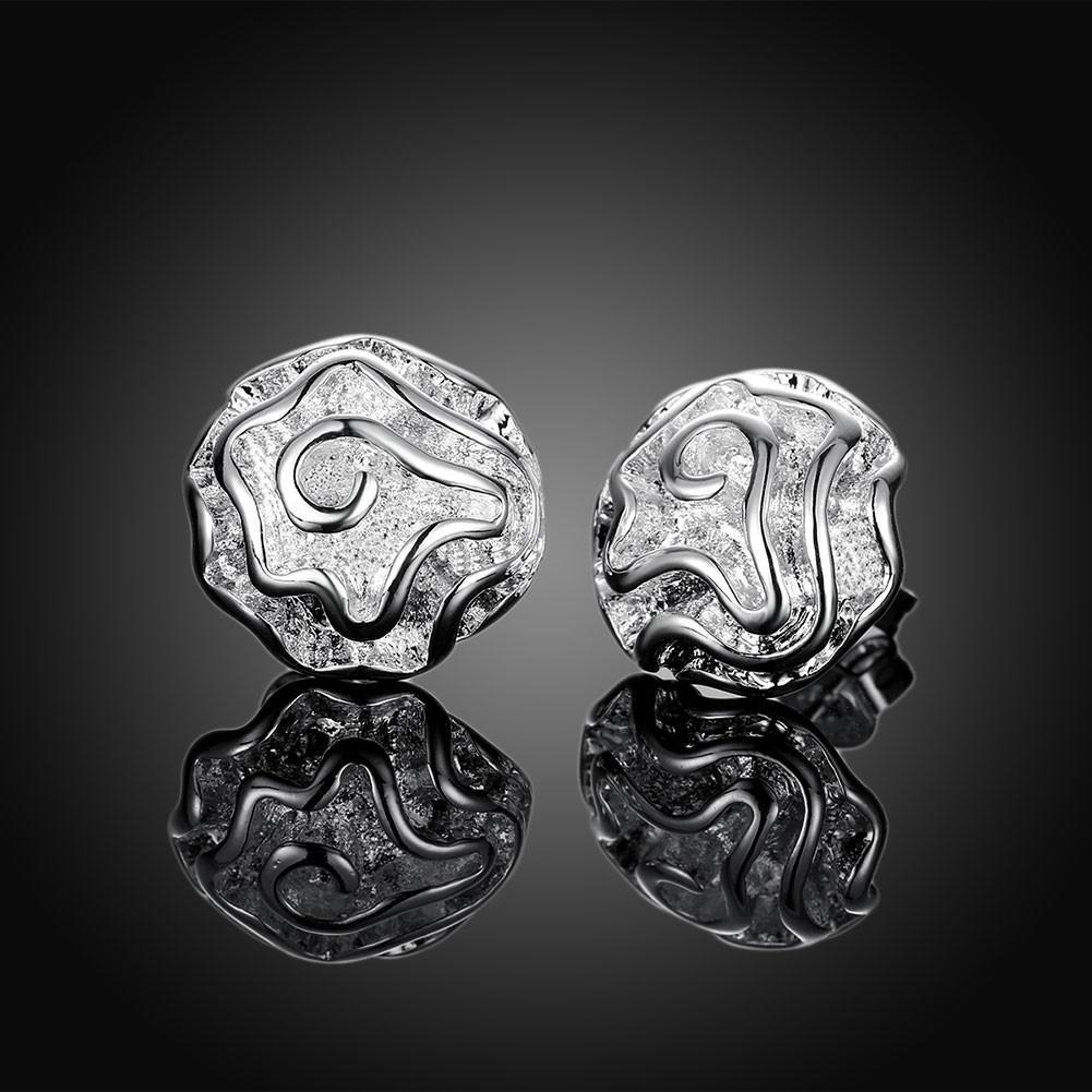 """Маленькі жіночі сережки гвоздики """"Ніжний квітка"""" покриття срібло"""