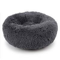 Лежак пуфик для котов собак круглый Taotaopets 552201 XL Темно-серый (5516-21459)