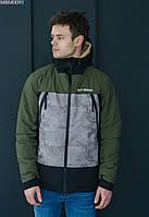 Куртка Staff stus colorblock серый/чёрный/хаки MBM0091 M, 48