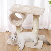 Когтеточка для кота с полками Taotaopets 046610 Beige размер 40*40 см (6282-21398)
