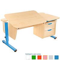 Письменный стол Школьник с тумбой на 2 ящика регулируемый по высоте   Детский письменный регулируемый стол Шко, фото 1