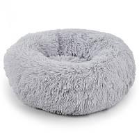 Лежак пуфик для котов собак Taotaopets 552201 XL Серый (5516-21460)