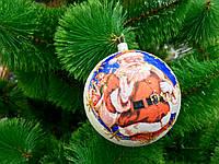 Украшение для елки , шар Дед Мороз ,новогодняя игрушка