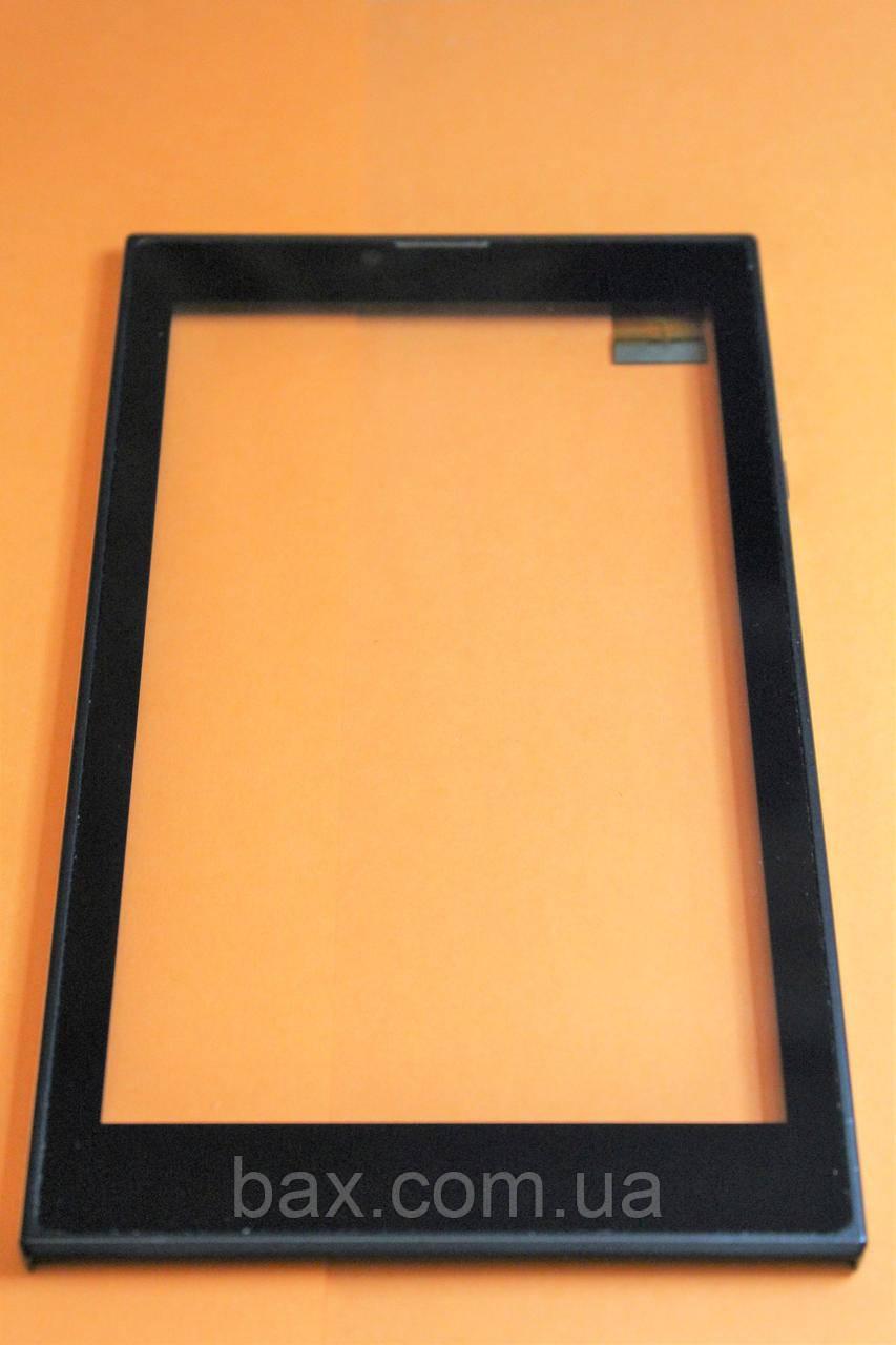 Тачскрін (сенсорний екран) для планшету чорний з рамкою Bravis NB76 L20170815 HK070PG3328B-V01 TX15RX10