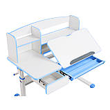 Комплект для школяра парта Cubby Rimu Blue + ергономічне крісло FunDesk Cielo Blue, фото 4