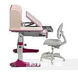 Растущий комплект для девочки парта Cubby Ammi Pink + кресло для дома FunDesk Primo Grey, фото 2