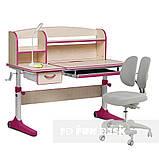 Растущий комплект для девочки парта Cubby Ammi Pink + кресло для дома FunDesk Primo Grey, фото 4