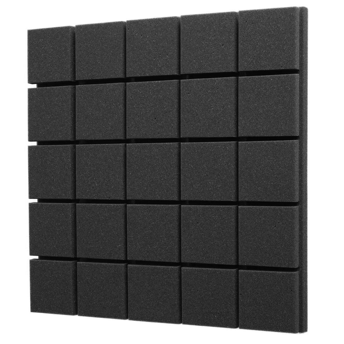 Панель из акустического поролона «Плитка» EchoFom Standart Черный графит 500х500х30 или 500х500х50
