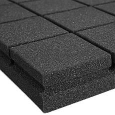 Панель из акустического поролона «Плитка» EchoFom Standart Черный графит 500х500х30 или 500х500х50, фото 2