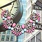 """Ожерелье """"Зарина"""", розовых тоннов., фото 6"""