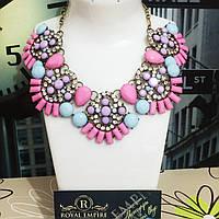 """Ожерелье """"Зарина"""", розовых тоннов."""
