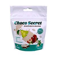Конфеты из сухофруктов в шоколаде Choco Secret. Клубника во фруктовой оболочке с мятой, 50 г