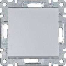 Вимикач 1-клавішний Hager Lumina Сріблястий матовий