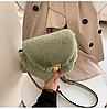 Меховая сумочка через плечо, фото 3