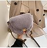 Меховая сумочка через плечо, фото 2