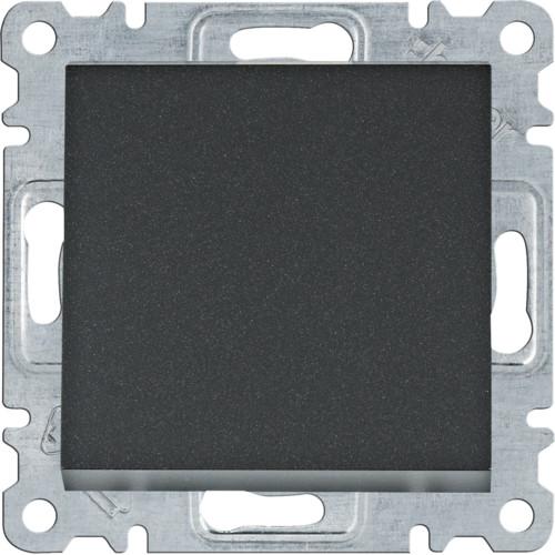 Выключатель 1-клавишный Hager Lumina Черный матовый