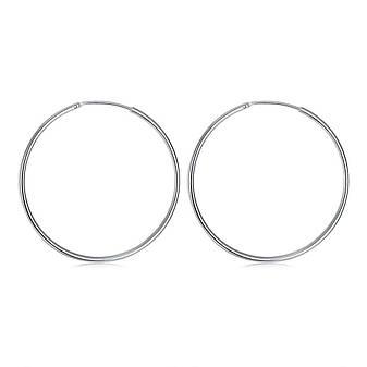 Женские серьги-кольца большие покрытие серебро, фото 2