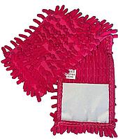 /Насадка сменная из микрофибры шиньон 1000 пальцев розовая