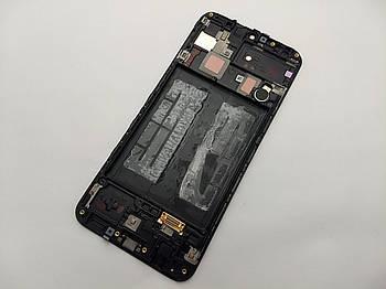 Дисплей Samsung A30 2019 A305F модуль черный Сервисный оригинал с разборки