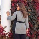 Женский строгий костюм больших размеров черно-серый SKL11-259269, фото 2