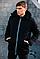 Мужская черная демисезонная куртка с капюшоном, фото 2