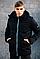 Чоловіча чорна демісезонна куртка з капюшоном, фото 3