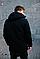 Чоловіча чорна демісезонна куртка з капюшоном, фото 4