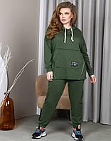 Спортивный костюм хаки для полных женщин, фото 1