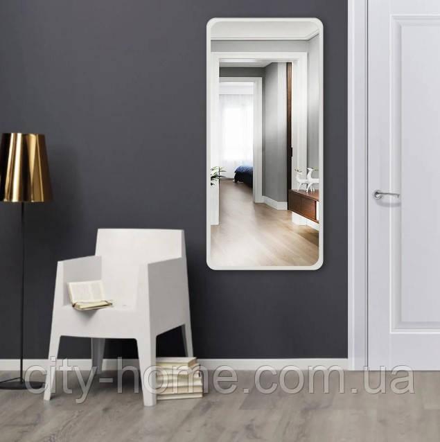 Дзеркало ростовое прямокутне біле 1300 х 600 мм