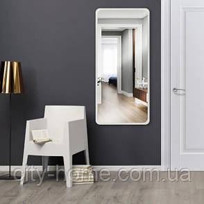 Дзеркало ростовое прямокутне біле 1300 х 600 мм, фото 2