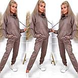 Замшевый спортивный костюм с свободным худи и джогер на резинке и манжетах оверсайз (р. 40 - 58) 52051197, фото 6