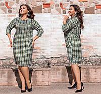 """Стильное женское платье с кармашками, ткань """"Трикотаж с добавлением Люрекс"""" 52, 56 размер 52"""