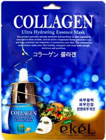 Тканевая маска с коллагеном Биолифтинг Ekel Collagen Ultra Hydrating Essence Mask, Экель